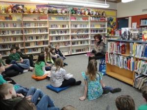 reading at Jesse's school