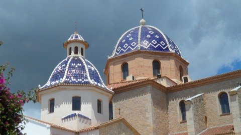Blue Domed Church in Altea