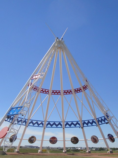 Medicine Hat, home of the world's largest TeePee
