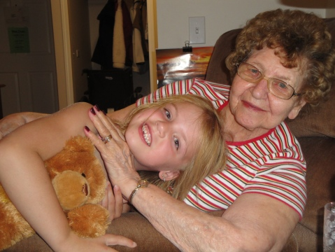 Mom with her great great granddaughter