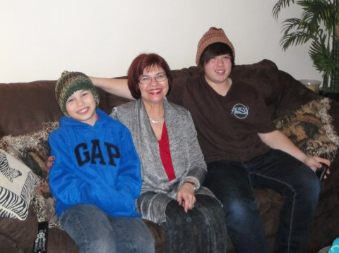 Early Christmas with the grandsons 2011