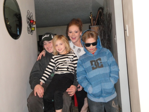 Grandsons, granddaughter and great granddaughter early Christmas 2012