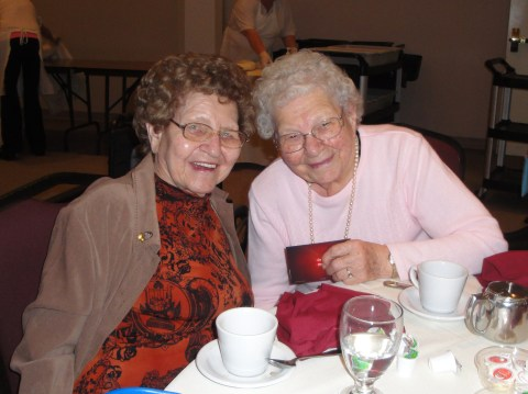 Mom and Aunt Barbara, best pals