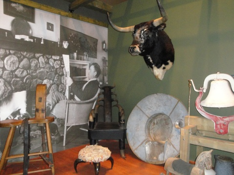 Items from the original log cabin museum