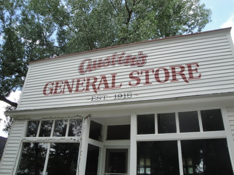 A typical prairie general store built in 1924