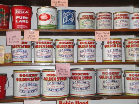 Items for sale in the general store. Look at those prices!