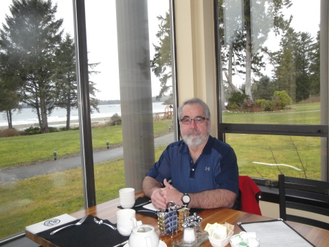 Enjoying a relaxing breakfast with a view