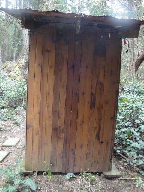 The outhouse, clean and comfortable