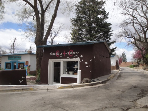 Cashmere and Chocolate, the old jail in Taos