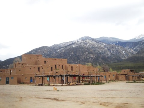 Taos Pueblo with the Sangre de Cristo Mountains in the background