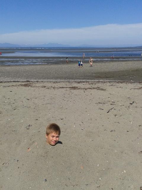 First time at a beach