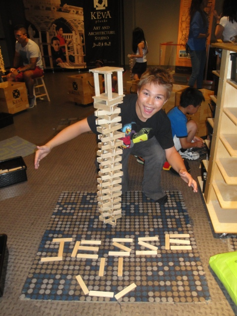 Look what I built with Keva at Science World!