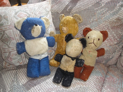 My old friends, Elvis, Ted, Teddy andTootsie