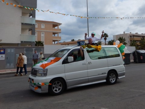 Even the Pope made an appearance in his popemobile