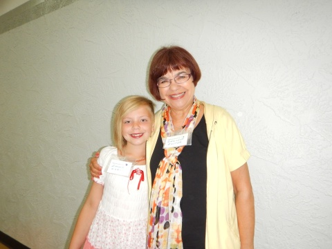 With my other sweet great granddaughter at the reunion
