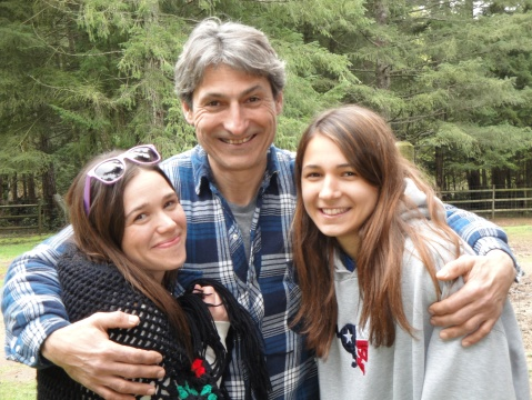 Daughter, her partner and his daughter. Love my family!