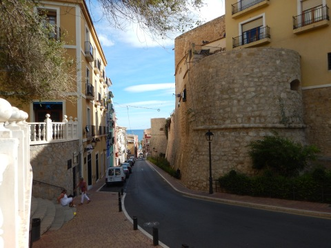 Street to the beach front
