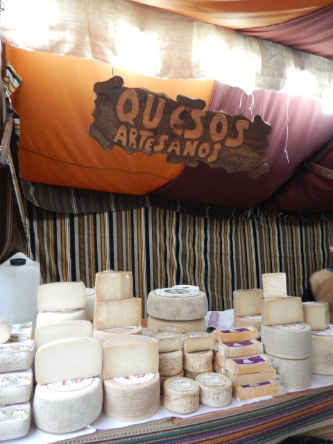 An assortment of cheeses