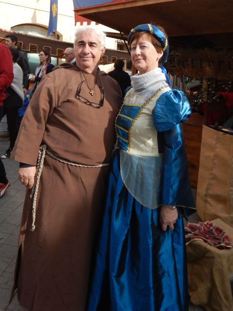 or a monk and a lady