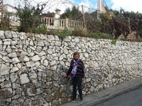 Original dry stone wall