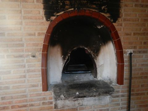Original clay oven in the kitchen