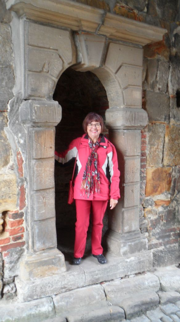 Happily exploring a medieval German castle