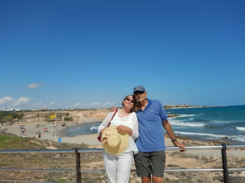 Jayne and Bob enjoying the Mediterranean.