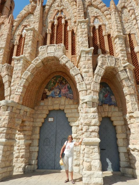 The amazing church in Novelda, designed by a student of Gaudi.